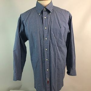 Tommy Hilfiger 17 1/2 32-33 Mens Dress Shirt Blue